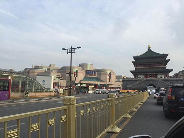 西安钟楼护栏